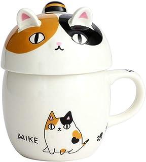 蓋付 マグカップ 猫3兄弟 コーヒーカップ マグ 猫柄 猫 ki-109 (MIKE)