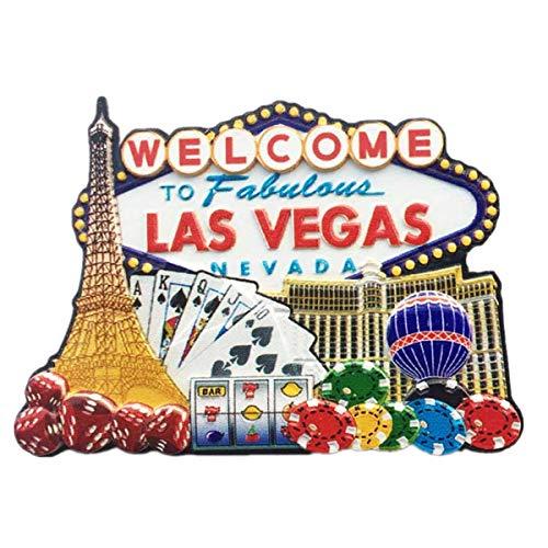 Kühlschrankmagnet, 3D, berühmtes Casino, Las Vegas, Nevada USA, Souvenir, Geschenk, Dekoration für Zuhause und Küche, Magnet-Aufkleber Las Vegas USA Kühlschrank-Magnet-Kollektion.