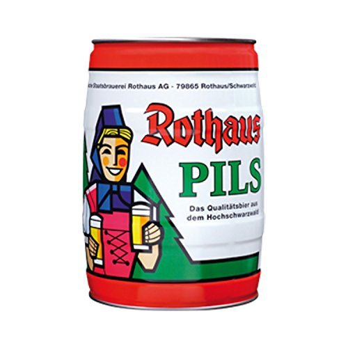 4x Rothaus Pils 5 L barril de 5,1% vol