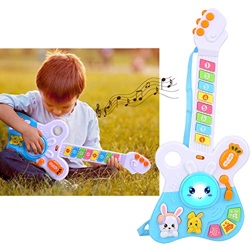 Qinlorgo Instrumentos Musicales para niños pequeños - Guitarra eléctrica eléctrica Juguete Niños...