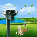 Ahuyentador de Gatos, 2021, por ultrasonido, con Funcionamiento Solar y Flash contra Gatos, Perros, martas, Animales, Gatos, Perros, martas, Perros, martas, etc. IPX66, Resistente al Agua