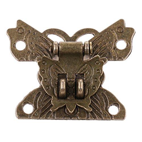 Sharplace Cerrojo De Cerradura De Bloqueo De Forma De Mariposa Vintage para Caja De Joyería Cofre De Cajón Regalo De Decoración