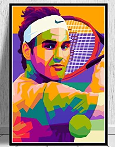 Rompecabezas 1000 Piezas Montaje De Imágenes Obra De Arte Roger Federer Jugadores De Tenis Sport Star Art Oil Living para Adultos Juegos para Niños Juguetes Educativos Wq76Xz