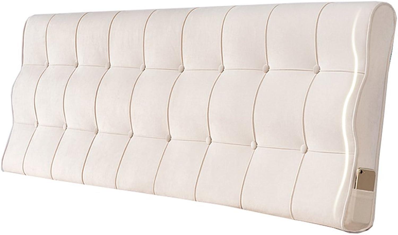 Coussin de chevet européen soft pack lit couverture chambre reste grand dos oreiller lombaire flocage taie d'oreiller en tissu sans tête de lit (Couleur   Beige, taille   150  10  60cm)