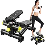 Stair Stepper, Portable Fitness Mini Step Machine with Drawstring and LCD Monitor, Fitness Home Exercise Equipment for Whole Body Exercise, Exercise, Stair Stepping Fitness (UK spot,Multicolour)