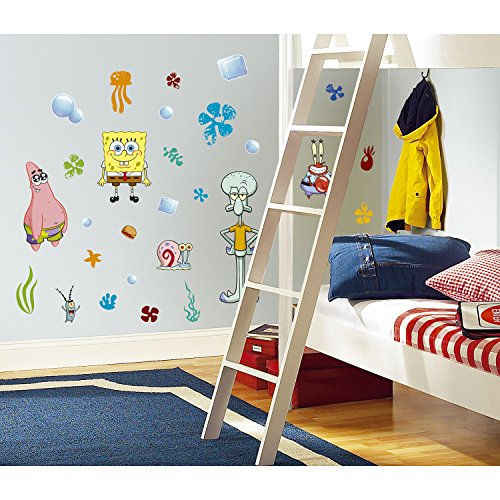 RoomMates Spongebob Squarepants Peel and Stick Wall Decals - RMK1380SCS,Multi