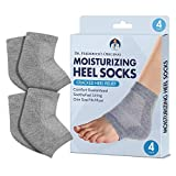 Dr. Frederick's Original Moisturizing Heel Socks for Cracked Heel Treatment - 2 Pairs - Stop Cracked Heels in Their Tracks