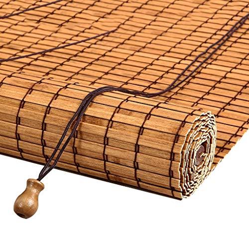 ZAQ Bambusrollo Rollos Außenmontage-Rollos - Tür/Pavillon/Balkon/Außen-Sonnenschutz, Bambus , 110 cm / 120 cm breit (Size : 110×100cm)