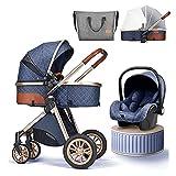 YXCKG Cochecito de bebé 3 en 1, Cochecitos y sillas de Paseo...