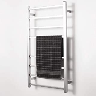 FFYH Antracita Calentador Toallero Eléctrico Acero Inoxidable, Montado En La Pared Radiador Energía Eficiente