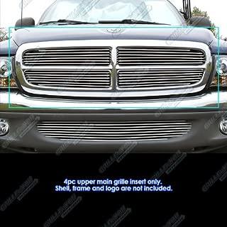 APS Compatible with 97-04 Dodge Dakota 97-03 Durango Main Upper Billet Grille Insert D65730A