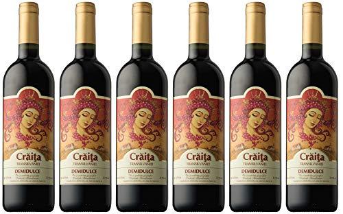 Jidvei   CRAITA TRANSILVANIEI - Rotwein lieblich aus Rumänien   Weinpaket 6 x 0,75 L + 1 Kugelschreiber Amigo Spirits gratis