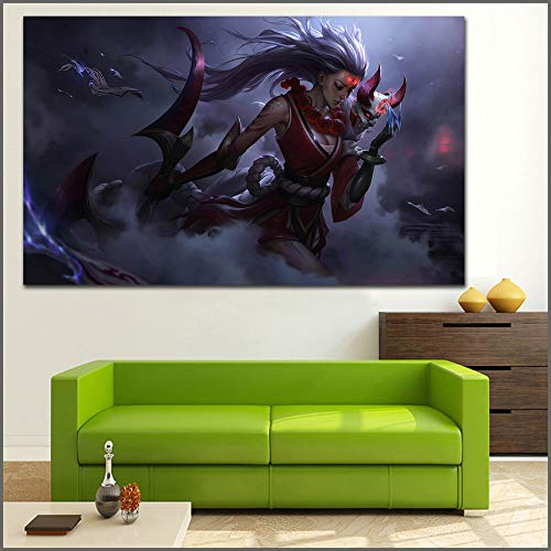 Große Ölgemälde Mond Diana Wandkunst Leinwanddruck Bilder für Wohnzimmer und Schlafzimmer40x65cm(Kein Rahmen)