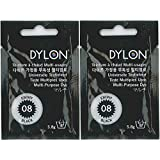 DYLON ダイロン マルチ (衣類・繊維用染料) 5.8g col.08 【2個セット】 エボニーブラック [日本正規品]