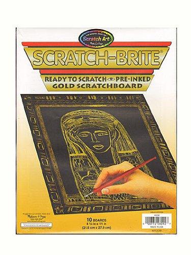 Scratch Art Scratch-Brite Scratchboard gold pack of 10
