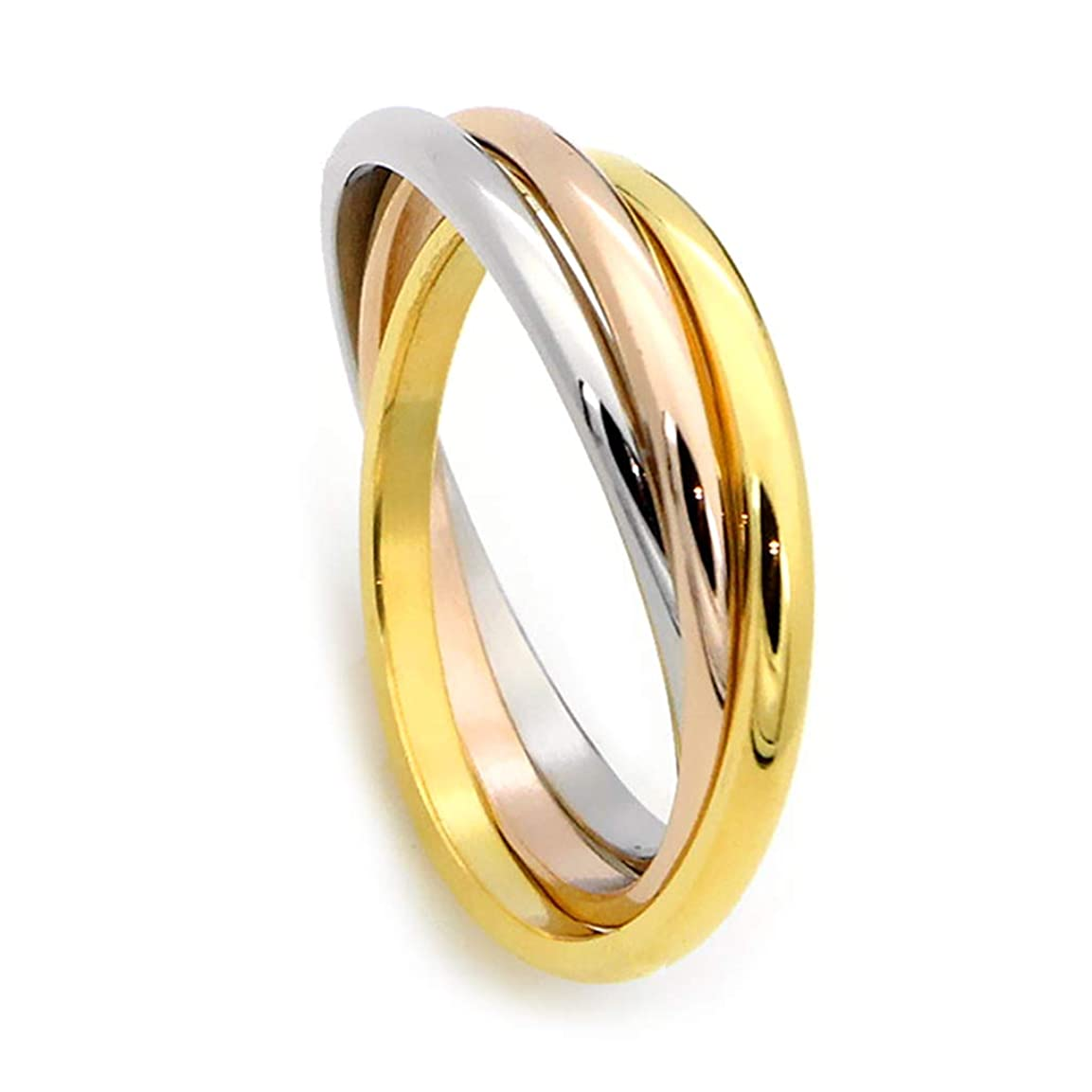 私たちに変わるDaeum Tricolor Classic Ring Titanium Steel Trend Fashion Mainstream Girls Ring