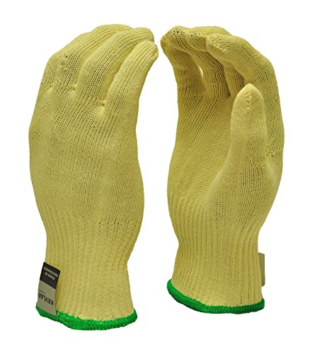 G & F Products 1678M Cut Resistant Work Gloves, 100-Percent Kevlar Knit Work Gloves, Make by DuPont Kevlar, Protective Gloves to Secure Your hands from Scrapes, Wood Carving, Yellow, Medium