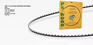 """PS Wood Timber Wolf 116"""" x 3/16 x 4 tpi band saw blade"""