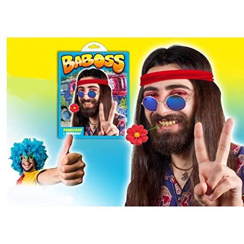 Generique - Perruque Hippie Baboss Adulte