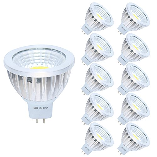 10er MR16 GU5,3 LED Lampe 3W Kaltweiß 6000K DC 12V 210 Lumen,Ersetzt 20W Glühlampe 120° Abstrahwinkel