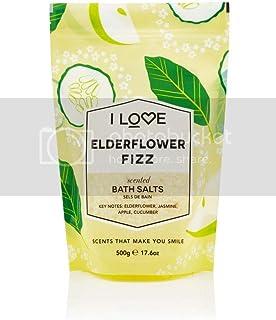 I Love Bath Salts Elderflower Fizz, 500 gm