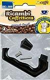 Parodi&Parodi 6 Tazze Moka, compatibili bialetti e Altri Marchi 1 Manico di Ricambio con pomolo per caffettiera, Neutro, Standard