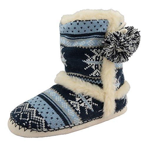 Dunlop Farah Womens Slipper laarzen - Navy - Kleine 3/4