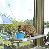 Pupagree Cat Window Hammock Cat Window Mounted Perch Cat Resting Shelf 360° Sunny Seat Space Saving Cat Beds for Indoor Cats