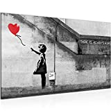 Bilder Banksy Girl with Ballon Wandbild 70 x 40 cm Vlies -