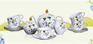 Ensemble de tasses à cappuccino - Service de tasses à café avec soucoupe - Porcelaine fine - Pour thé, café, cappuccino, 6...