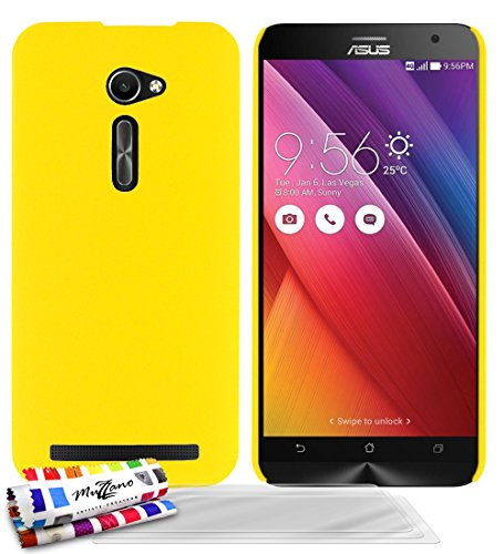 Muzzano F2373362 - Funda para ASUS ZenFone 2 (5.0) + 3 protecciones de pantalla, color amarillo