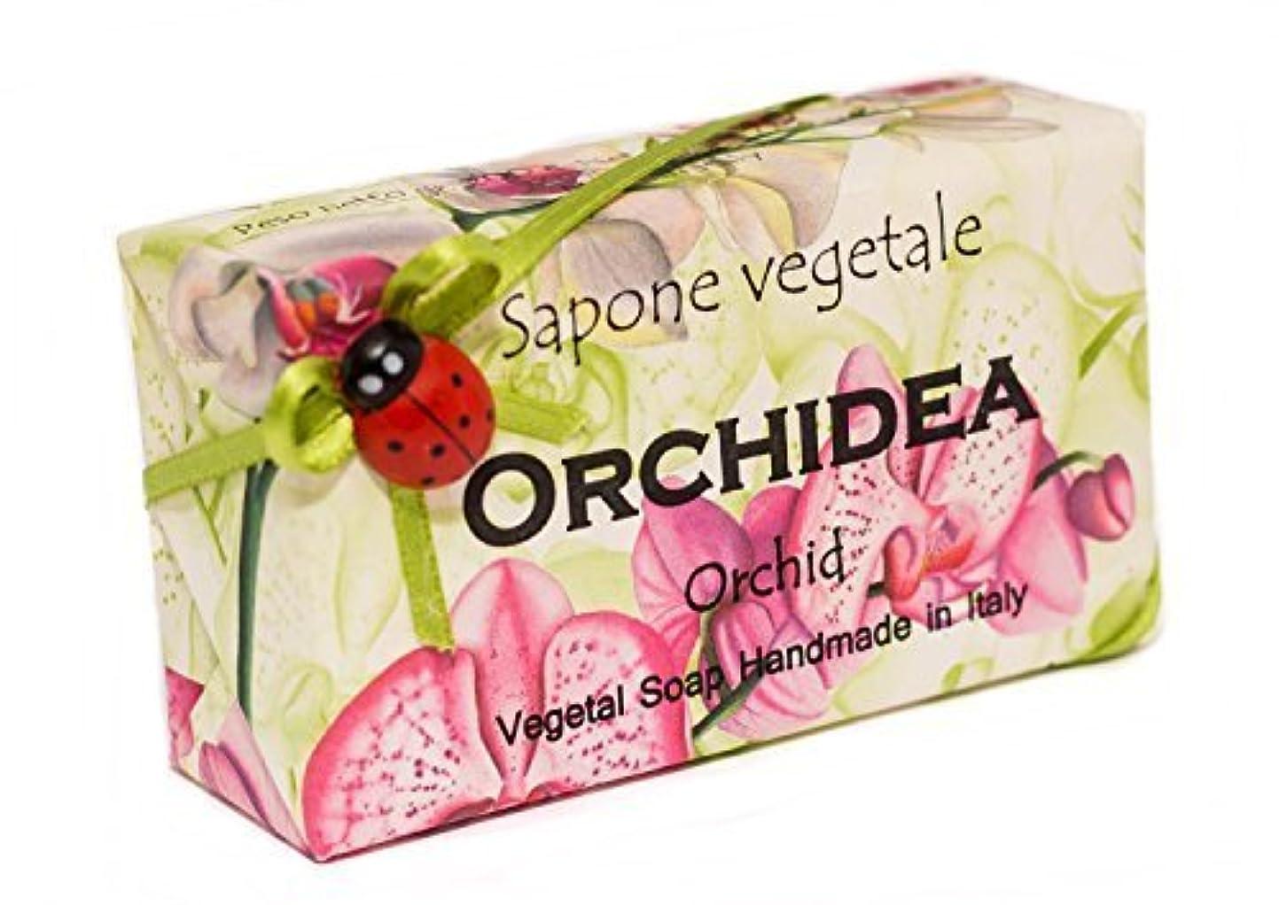願う北西逸脱Alchimia オルキデア(蘭)、イタリアからの野菜の手作りソープバー [並行輸入品]