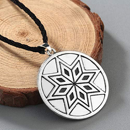 VASSAGO Vintage Wicca The Greater Key of Solomon The First Pentacle of The Sun Pendant Talisman Necklace