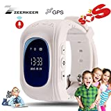 Smart Watch for Kids-ZEERKEER GPS Tracker Smart Watch Pedometer with SOS Call Anti-Lost