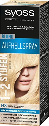 Syoss H3 Blond Aufhellspray Stufe 3, 3er Pack (3 x 125 ml)
