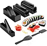 Sushi Maker Kit, Kit De Juego Easy Sushi Maker,Herramienta De Sushi para Principiantes con Múltiples Formas Molde De Arroz Y Espátula De Arroz,Fácil De Usar-Un 10pcs