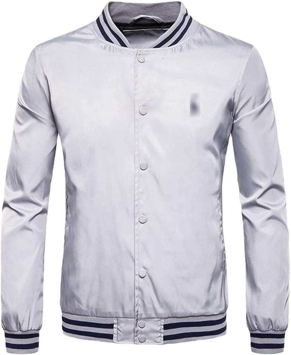 Autumn And Winter Stand Collar Zipper Jacket Men's Street Style Bomber Jacket