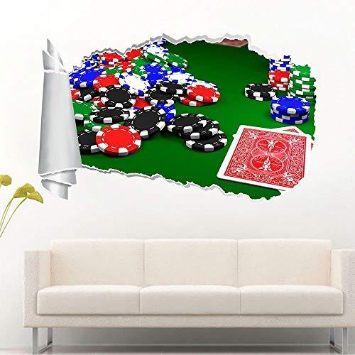 Adhesivo de pared para pared, diseño de póquer Blackjack Poker 3D