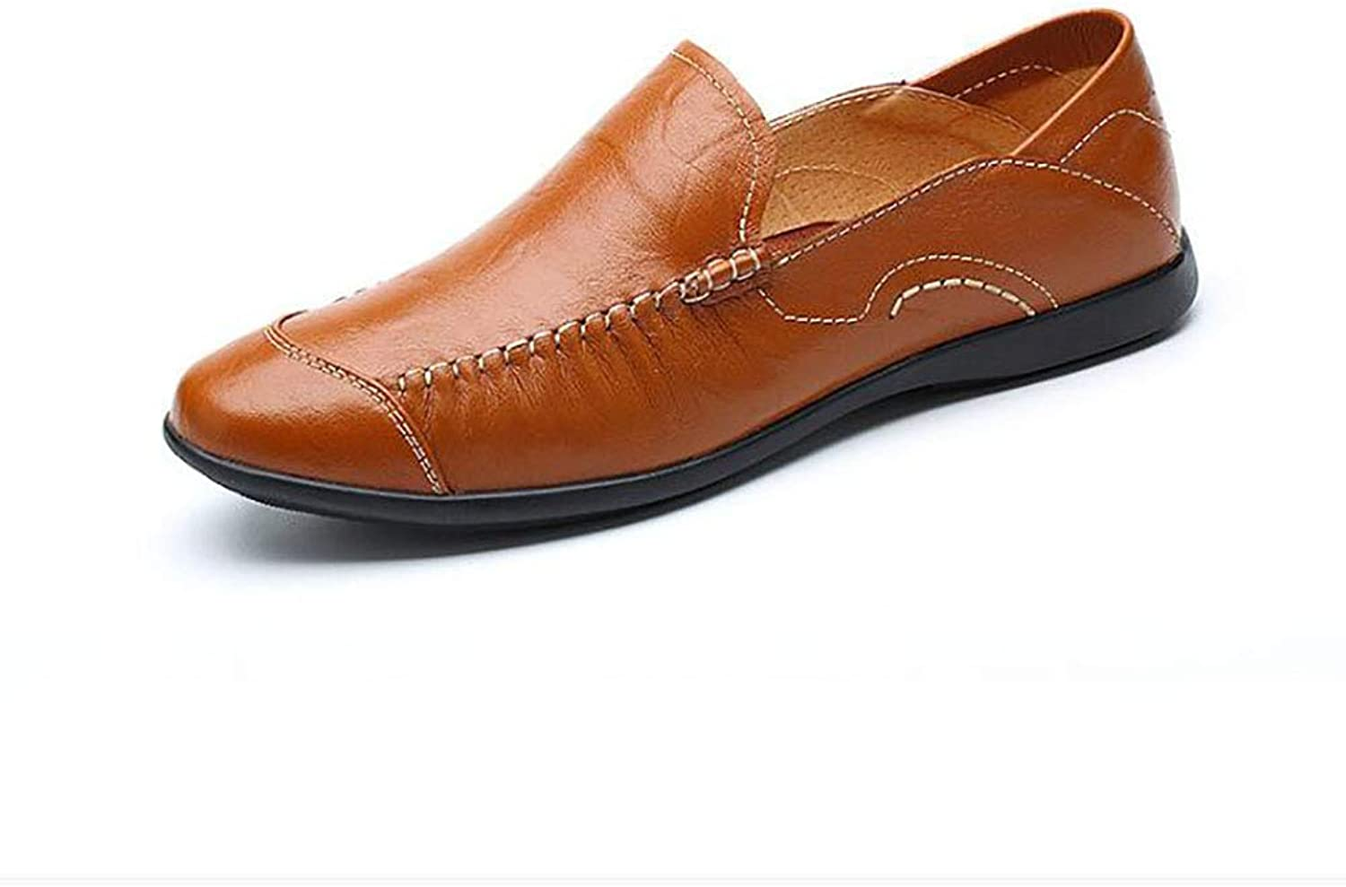 Jiedi Men's shoes Leather Spring Fall Comfort Driving shoes Loafers & Slip-ONS Leather shoes Comfort Loafers