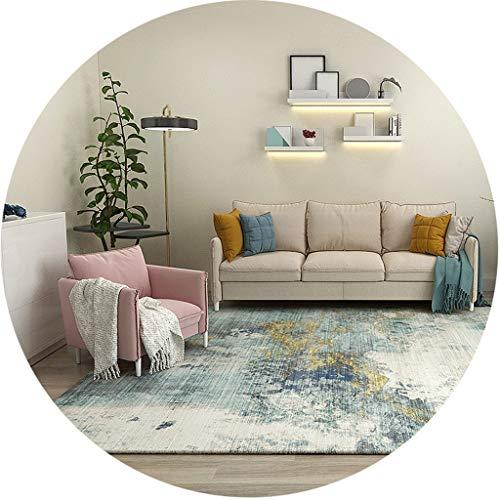 RUG NNIU vierkant tapijt, korte stapel, antislip, groot tapijt voor woonkamer, slaapkamer, salontafel, mat dikte 6 mm