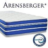Arensberger ® Flexx 9 Zonen Matratze mit 3D-Memory Foam, 90cm x 200cm, Höhe 25 cm, Allergiker...