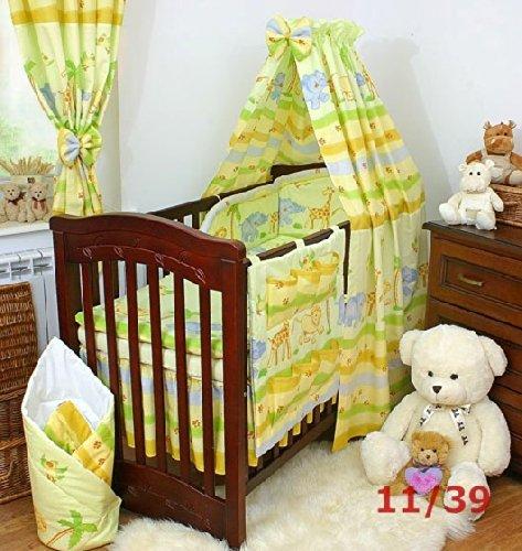 Find Bargain Yellow/green Safari Bedding 11-piece Set