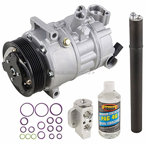 AC Compressor & A/C Repair Kit For Volkswagen VW Golf GTI R32 Jetta GLI New Beetle Eos Audi A3 TT - BuyAutoParts 60-80380RK New
