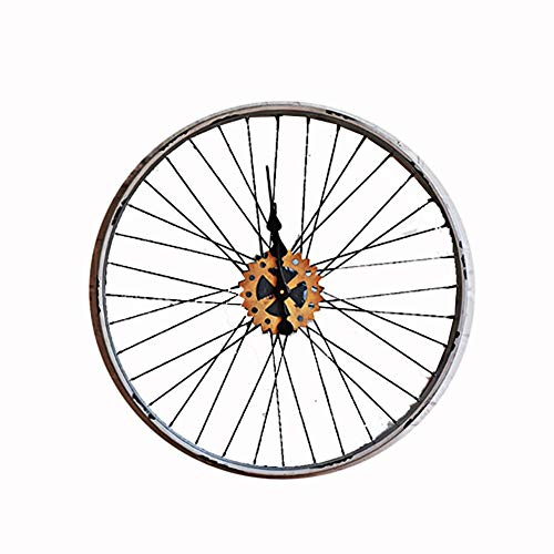 Campana HOULIN Shop Reloj De Pared, Reloj De Pared De La Rueda De Bicicleta Redonda Industrial Reloj De Pared Redondo Personalidad Creativa Reloj De Sala De Estar Reloj de Pared-9.2