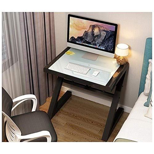 Sencilla tabla moderna del escritorio del ordenador portátil de escritorio de cristal templado mesa de estudio tabla superior PC de casa escritorios escritorio del ordenador portátil de trabajo Mesa c
