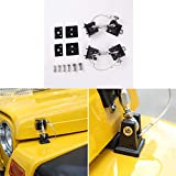 RT-TCZ Hood Latches Pins Anti-Theft Hood Catch Lock Kit for 1997-2006 Jeep...