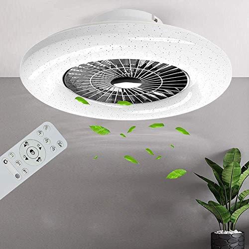 PADMA Deckenventilator mit Beleuchtung & Fernbedienung Leise Dimmbar mit Timer, Einstellbare Windgeschwindigkeit, 40W Deckenleuchte Modern, Farbwechsel 3000K~6500K für Schlafzimmer