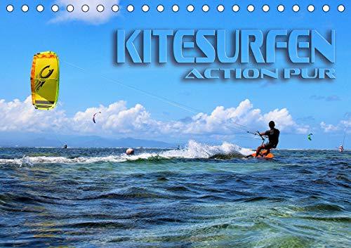 Kitesurfen - Action pur (Tischkalender 2021 DIN A5 quer)