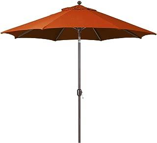 9-Foot Galtech (Model 737) Deluxe Auto-Tilt Umbrella with Antique Bronze Frame and Sunbrella Fabric Terra Cotta (Includes Extended Frame Warrantee)