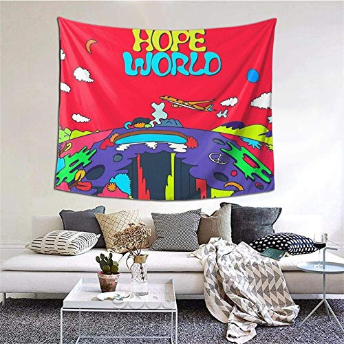 Gyaiaer J-Hope Hope World Album Art Tapestry Boutique Wall Hanging Tapestry Vintage Tapestry Wall Tapestry Micro Fiber Peach Home Decor 60x51inch